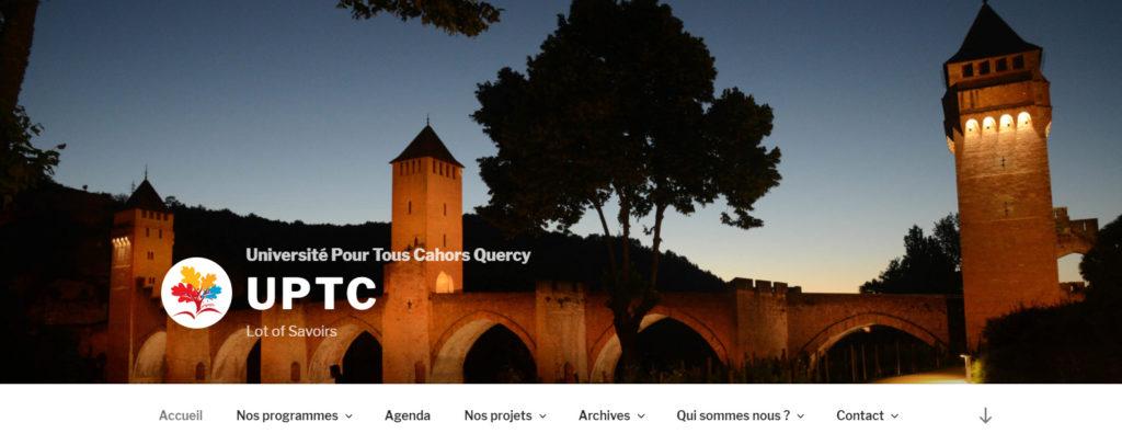 Association UPTC : bannière